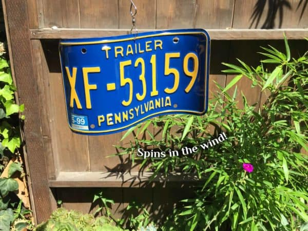 License Plate Wind Spinners 11 • Garden Ideas