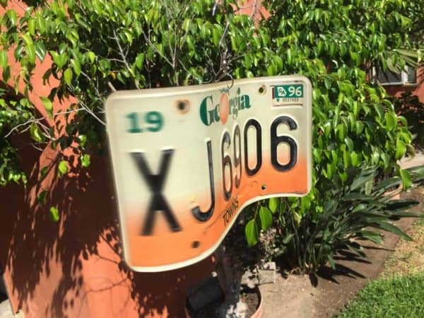License Plate Wind Spinners 1 • Garden Ideas