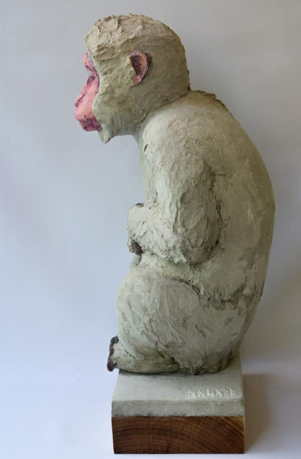Recycled Egg Box Into Japanese Snow Monkey 5 • Recycled Art