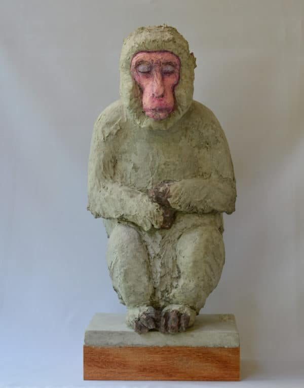 Recycled Egg Box Into Japanese Snow Monkey 7 • Recycled Art