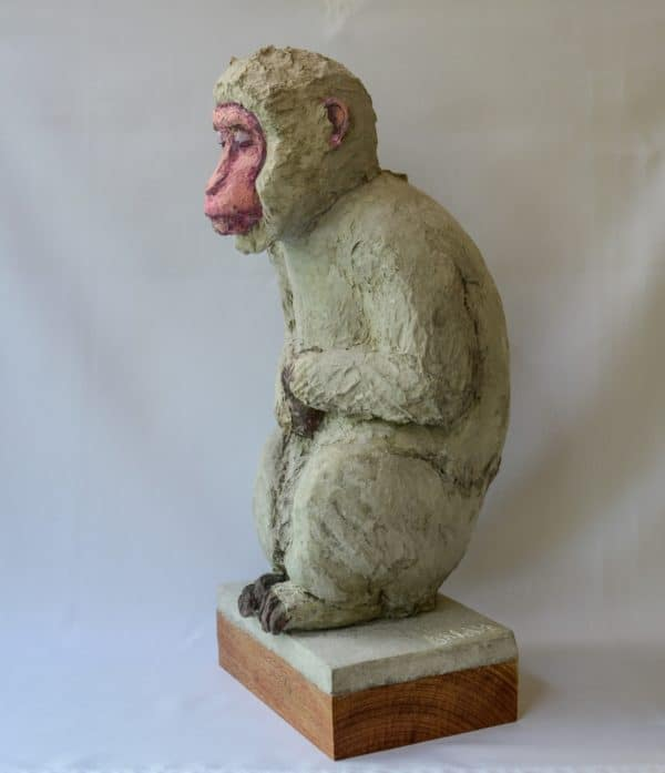 Recycled Egg Box Into Japanese Snow Monkey 11 • Recycled Art