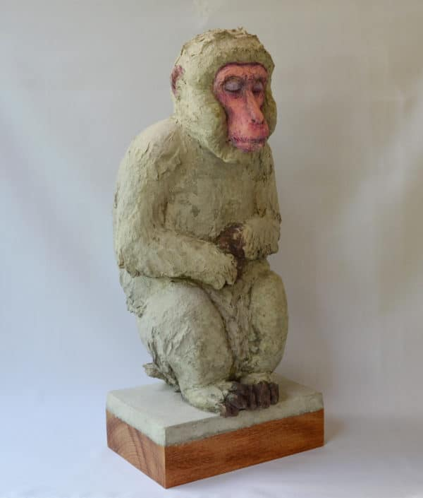Recycled Egg Box Into Japanese Snow Monkey 1 • Recycled Art