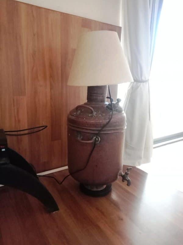 Lamp From Old Water Heater 1 • Lamps & Lights