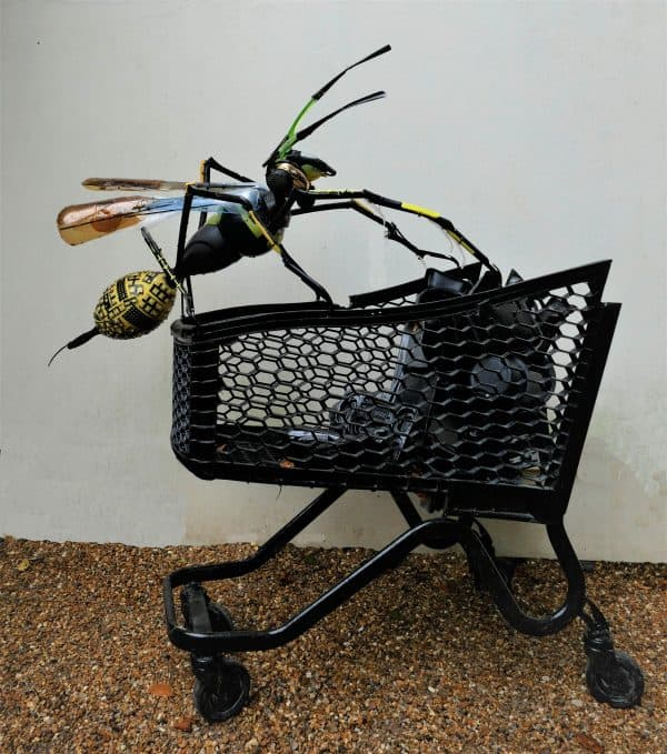 Recycled Plastic Wasp Sculpture 3 • Recycled Art