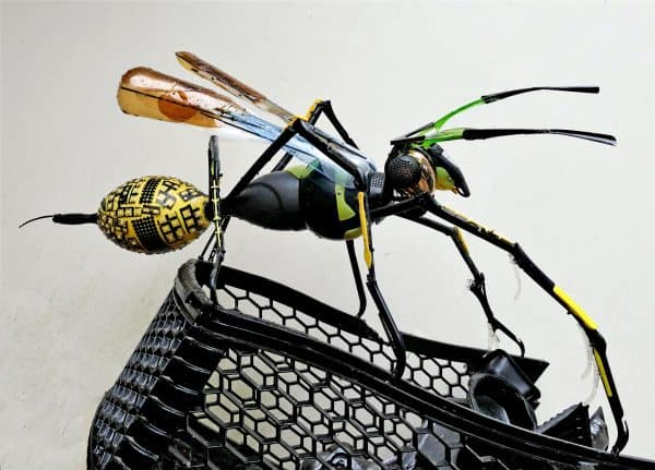 Recycled Plastic Wasp Sculpture 1 • Recycled Art