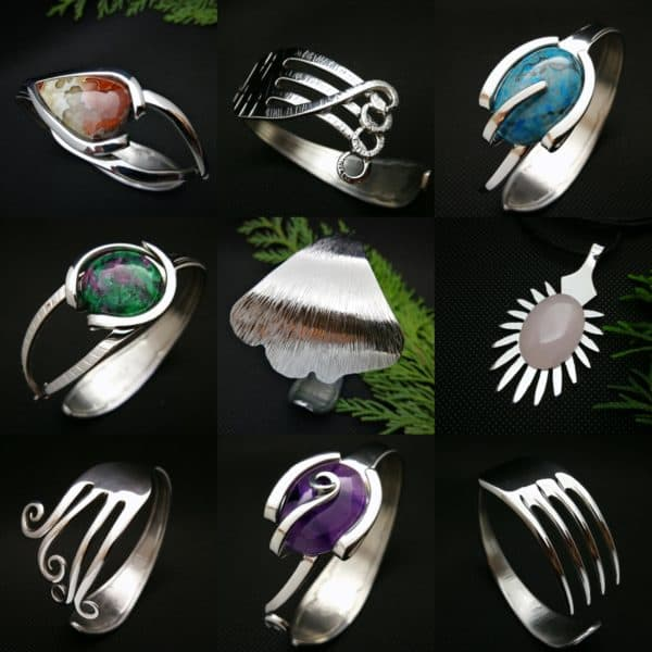 From Trash to Fashion, Upcycled Cutlery Into Jewels 1 • Upcycled Jewelry Ideas