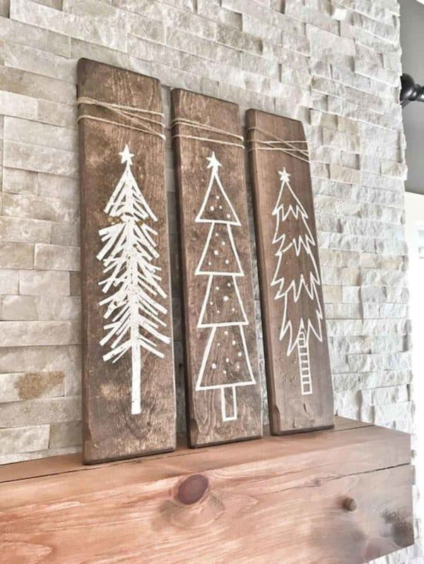 Easy Christmas Wall Art Ideas Using Natural Materials 7 • Do-It-Yourself Ideas