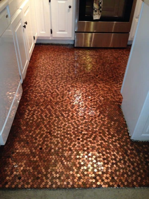 Diy: How to Make a Copper Penny Floor? 1 • Home Improvement