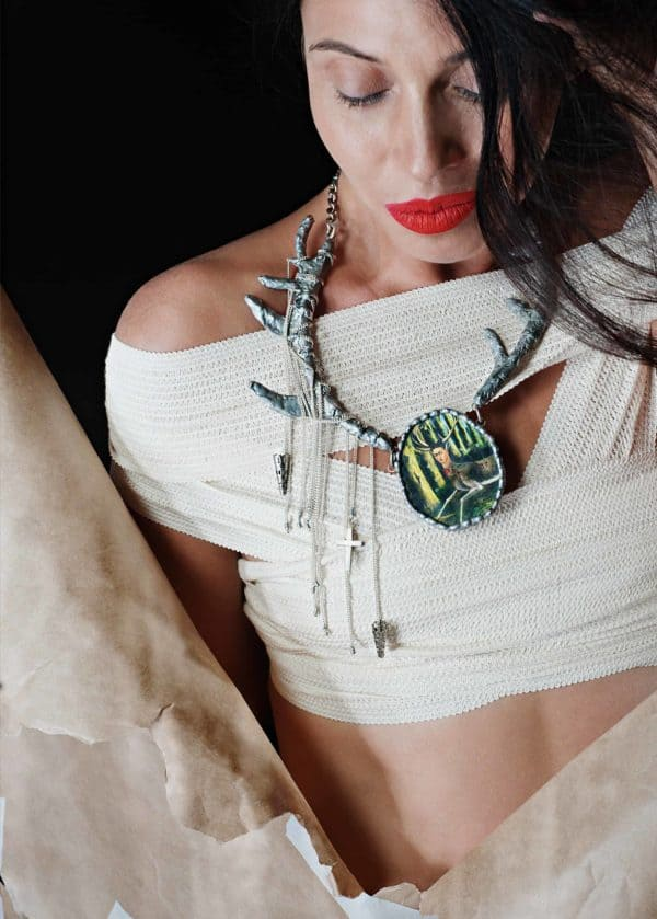 Frida Kahlo Recycled Necklaces 9 • Upcycled Jewelry Ideas