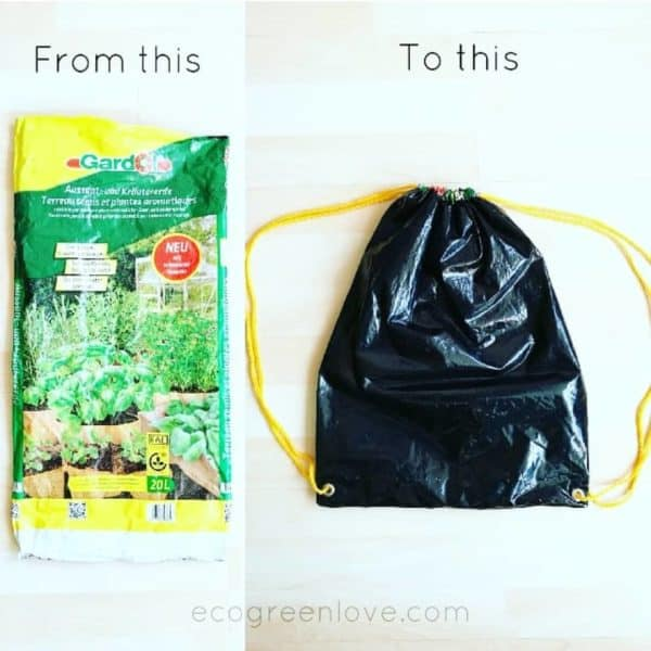 Upcycled Soil Bag Into Gym Bag 1 • Accessories