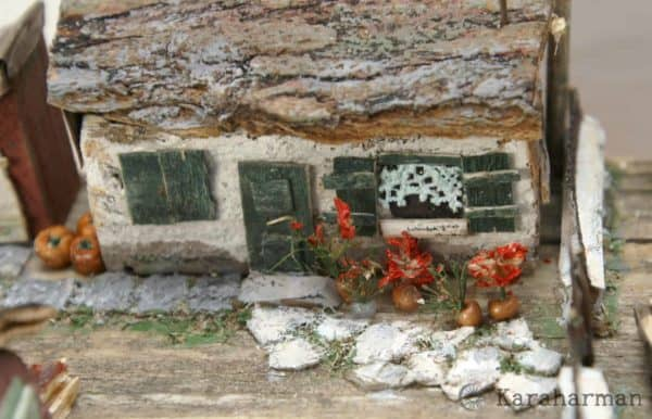 "Wooden Miniature Scene: ""someone's Grandma's House"" 3 • Recycled Art"