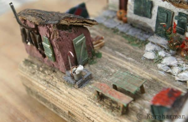 "Wooden Miniature Scene: ""someone's Grandma's House"" 7 • Recycled Art"