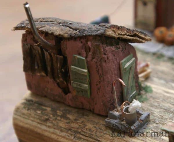 "Wooden Miniature Scene: ""someone's Grandma's House"" 11 • Recycled Art"