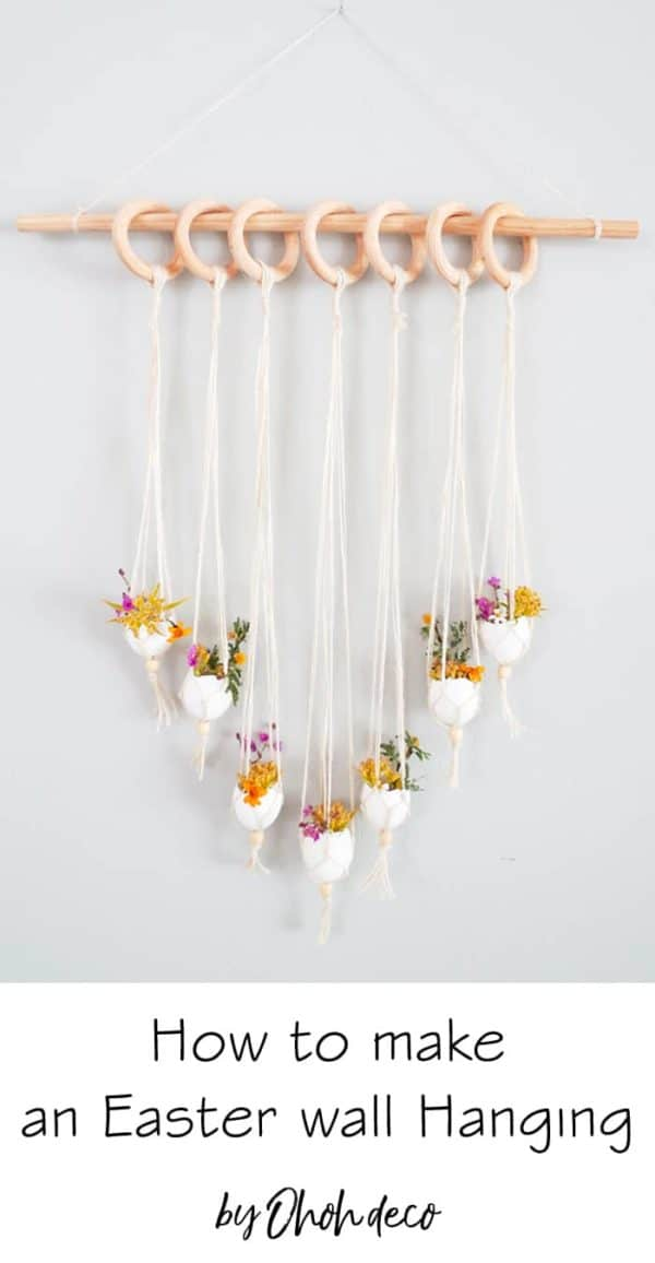 DIY Seasonal Spring Wall Hanging 3 • Home & décor