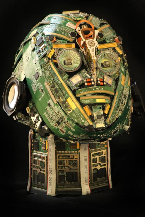 Bust sculptures made from e-waste 5 • Recycled Art