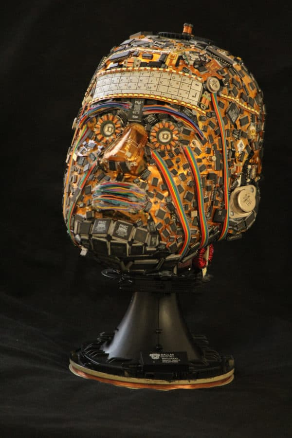 Bust sculptures made from e-waste 3 • Recycled Art