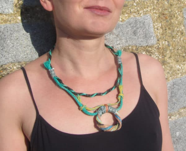 Recycled Fishing Rope Into Necklace 9 • Accessories