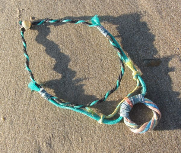 Recycled Fishing Rope Into Necklace 3 • Accessories