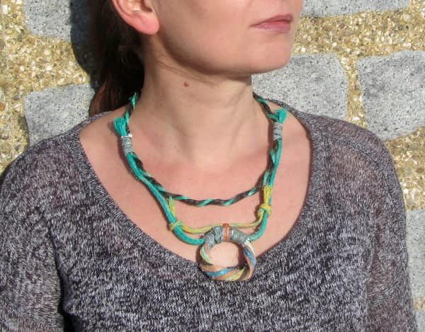 Recycled Fishing Rope Into Necklace 1 • Accessories