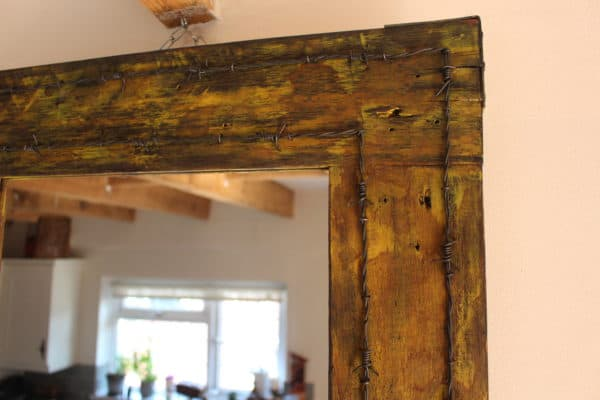 Vintage Drawer Handles & Pallet Wood Into Mirror 7 • Home & décor