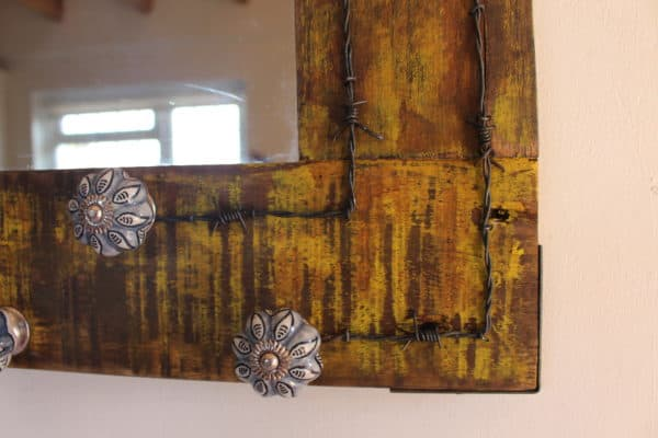 Vintage Drawer Handles & Pallet Wood Into Mirror 5 • Home & décor