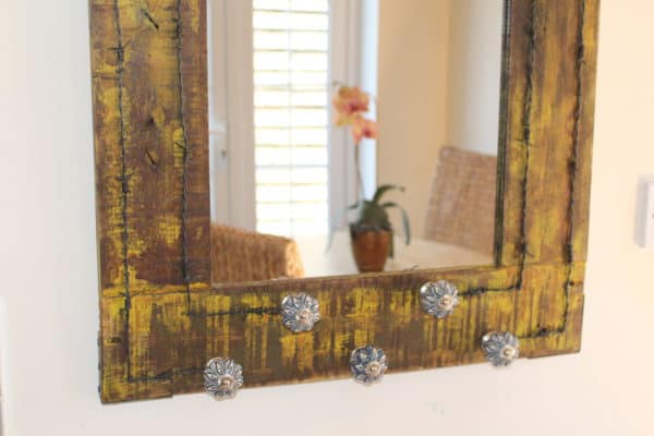 Vintage Drawer Handles & Pallet Wood Into Mirror 3 • Home & décor