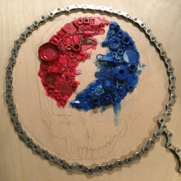 A Fitting Tribute: Canvas From Found Objects 5 • Recycled Art