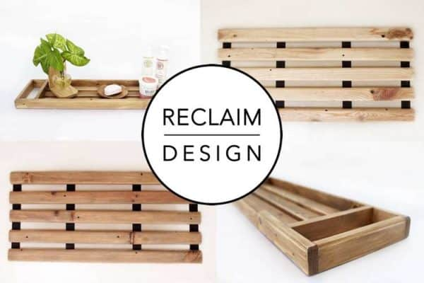 How To Make A Bath Caddy From Reclaimed Wood 17 • Wood & Organic
