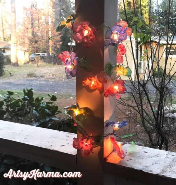 How to Make Flower Lights Out of Recycled Plastic Bottles 3 • Recycled Plastic