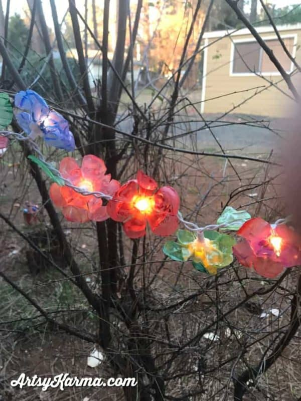 How to Make Flower Lights Out of Recycled Plastic Bottles 1 • Recycled Plastic