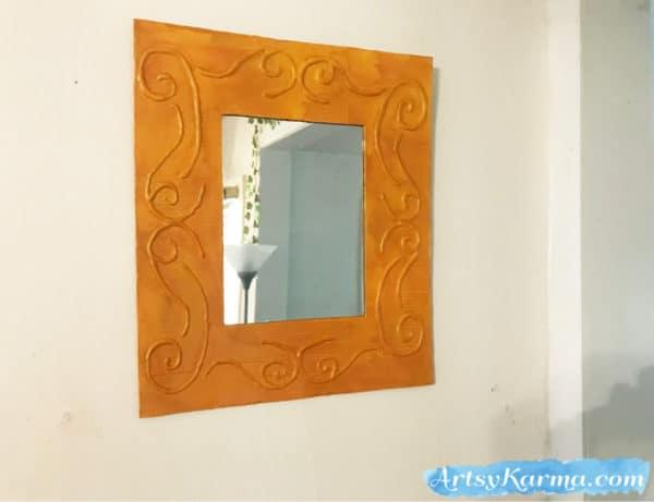 Easy DIY: Make a Decorative Framed Mirror Using Recycled Cardboard and a Glue Gun 17 • Recycled Cardboard