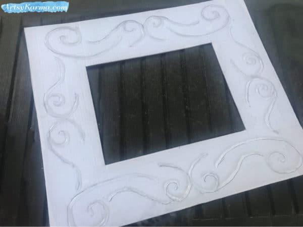 Easy DIY: Make a Decorative Framed Mirror Using Recycled Cardboard and a Glue Gun 7 • Recycled Cardboard