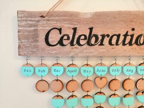 Cornish Driftwood Celebrations Calendar 3 • Wood & Organic