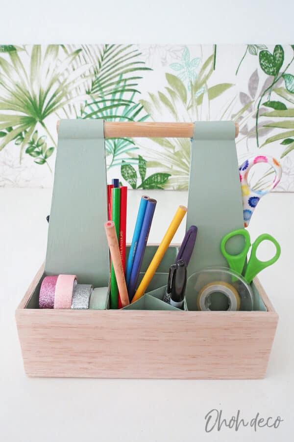DIY: Desk Organizer Caddy 3 • Recycled Packaging