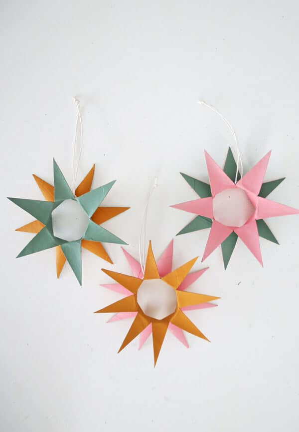 Make Christmas Ornaments With Toilet Paper Rolls 1 • Recycled Cardboard