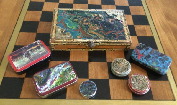 Upcycled Artsy Containers 1 • Recycled Art