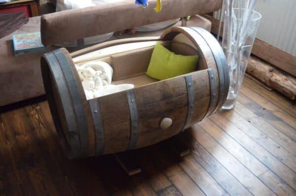 Barrel Cradle 8 • Recycled Furniture