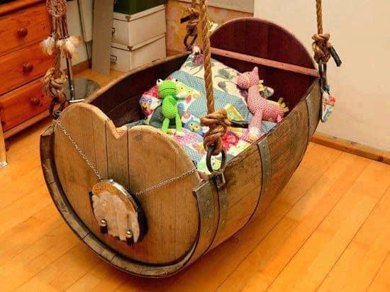 Barrel Cradle 2 • Recycled Furniture