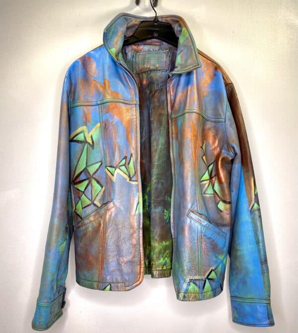 Displayable Wearable Art: Painting on Leather Jackets 15 • Clothing