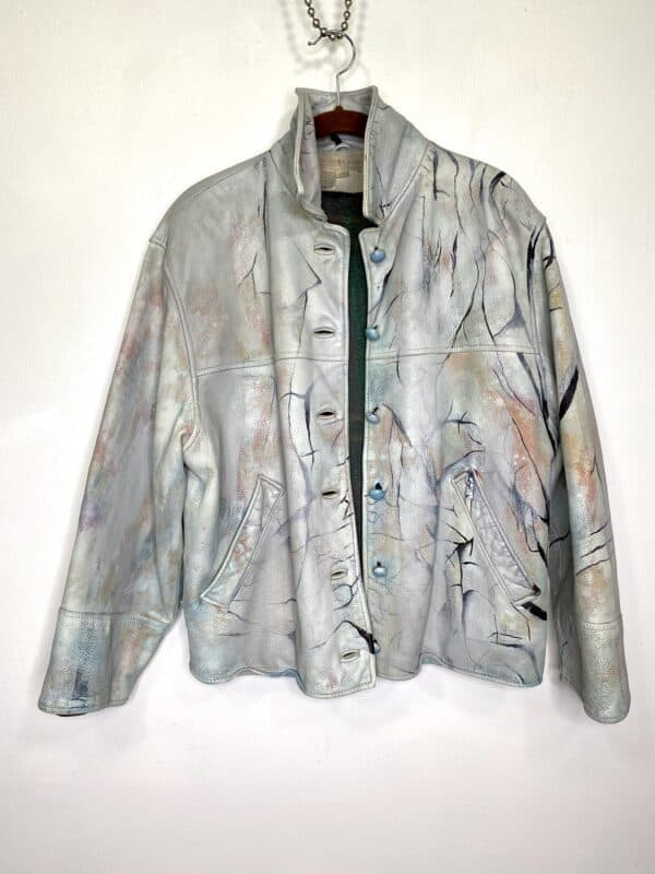 Displayable Wearable Art: Painting on Leather Jackets 9 • Clothing