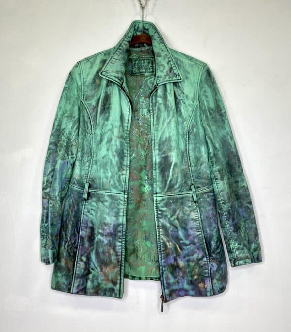 Displayable Wearable Art: Painting on Leather Jackets 7 • Clothing