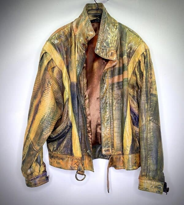 Displayable Wearable Art: Painting on Leather Jackets 17 • Clothing