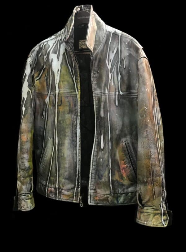 Displayable Wearable Art: Painting on Leather Jackets 1 • Clothing