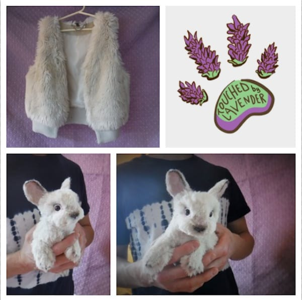 Recycled Clothing bunny by TouchedbyLavender 3 • Clothing