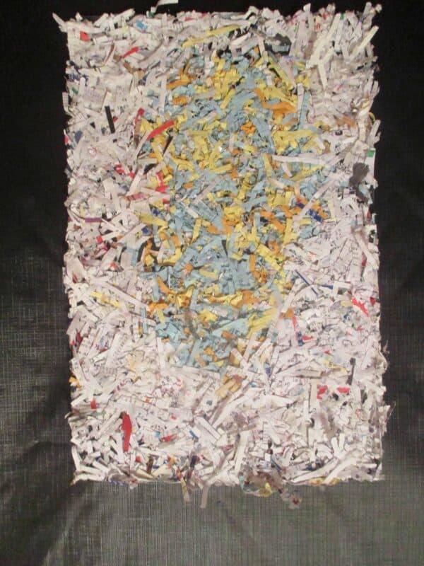 "FunTasTickz Trash Artz ""Shredded Paper Art"" 11 • Recycled Art"