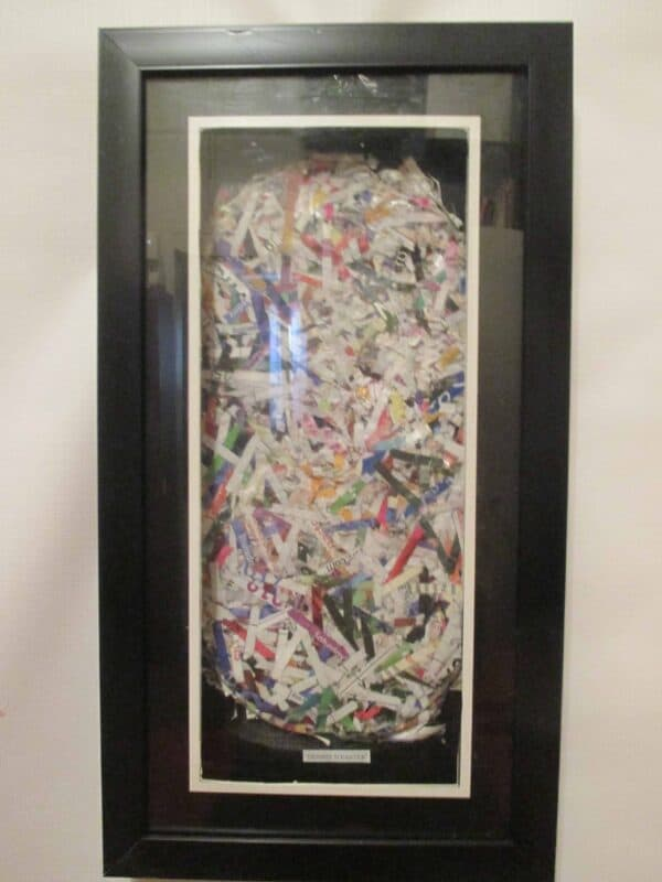 "FunTasTickz Trash Artz ""Shredded Paper Art"" 9 • Recycled Art"
