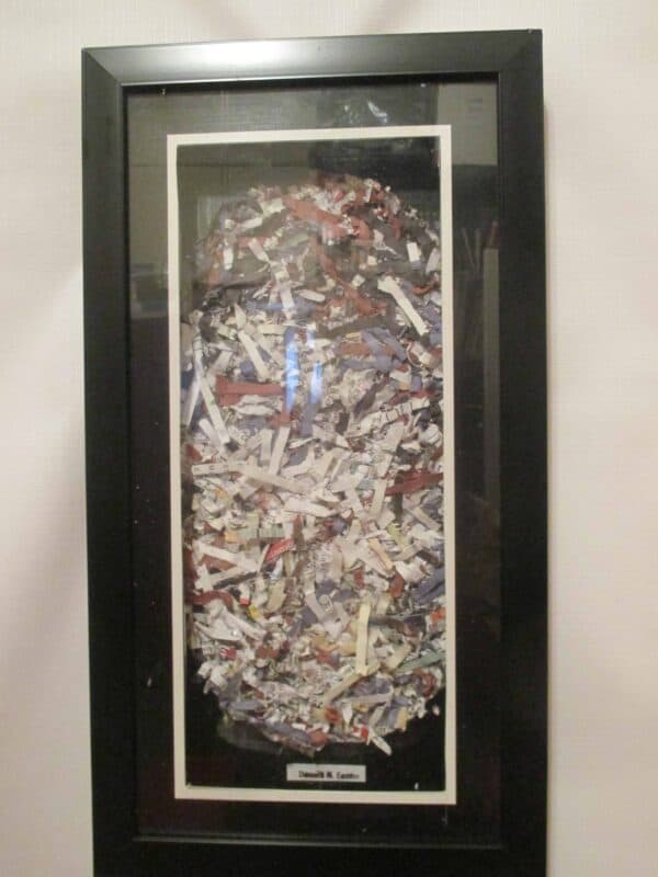 "FunTasTickz Trash Artz ""Shredded Paper Art"" 5 • Recycled Art"