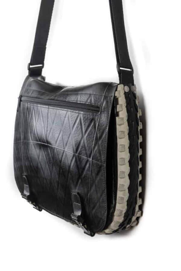 Handmade Messenger Bag From Upcycled Tires 5 • Accessories