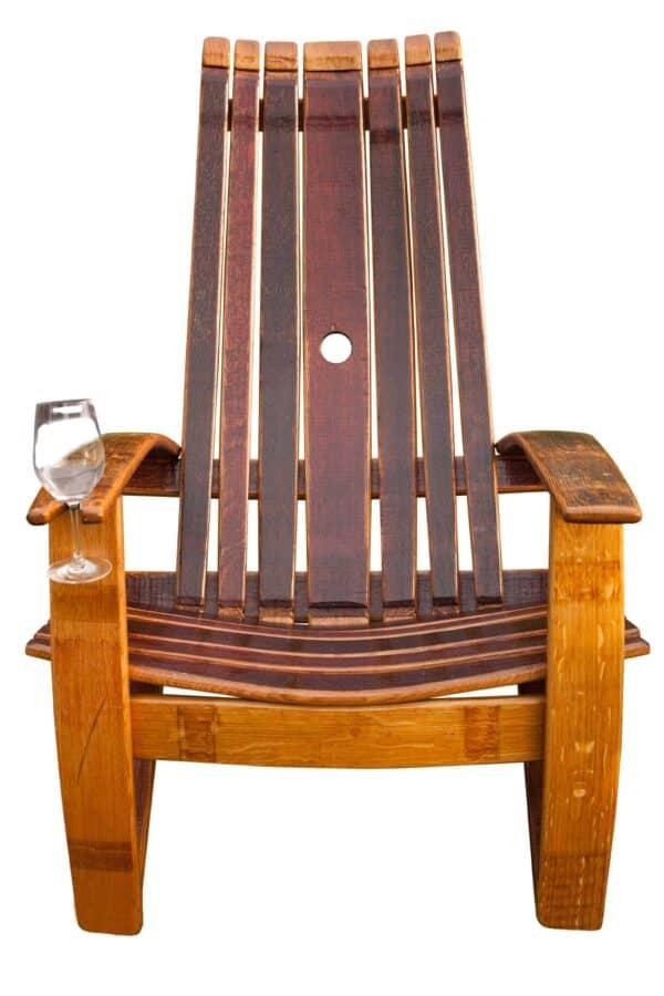 Oak Wine Barrel Adirondack Chair 3 • Recycled Furniture