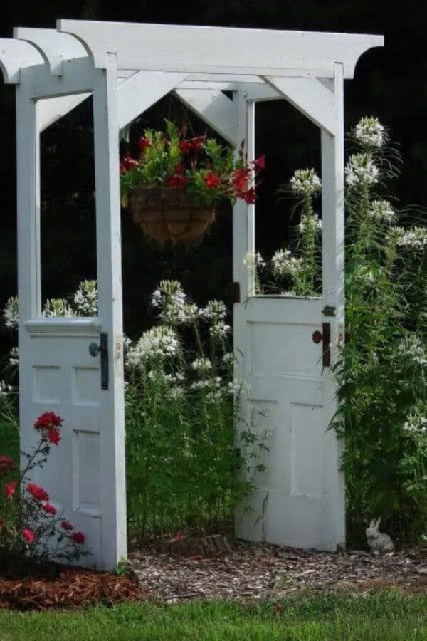 Old Doors Upcycled Into Garden Arbor 1 • Do-It-Yourself Ideas